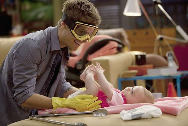 "BABY DADDY - ""Pilot"" - ÒBaby DaddyÓ is a hilarious new original comedy about a young man who becomes a surprise dad to a baby girl when sheÕs left on his doorstep by an ex-girlfriend. ÒBaby DaddyÓ makes its world premiere on Wednesday, June 20 at 8:30pm ET/PT, following an all-new ÒMelissa & JoeyÓ on ABC Family.  JEAN-LUC BILODEAU, TWINS ALI AND SUSANNE HARTMAN Photo: Randy Holmes, ABC FAMILY"