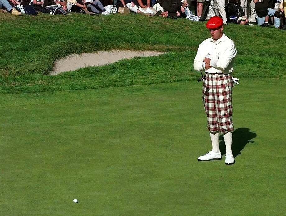 ADVANCE FOR WEEKEND EDITIONS, JUNE 9-10 - FILE - In this June 19, 1998, file photo, Payne Stewart, of Orlando, Fla., waits for his ball to stop rolling after his initial putt ran by the cup on the 18th green during the second round of the U.S. Open golf tournament at the Lake Course of the Olympic Club in San Francisco, Calif. Stewart ended up three putting the hole for a bogey. As Olympic prepares to host golf's national championship for the fifth time, matching the club's memorable moments of the past might be the toughest part.  (AP Photo/Kevork Djanzesian ) Photo: Kevork Djansezian, Associated Press