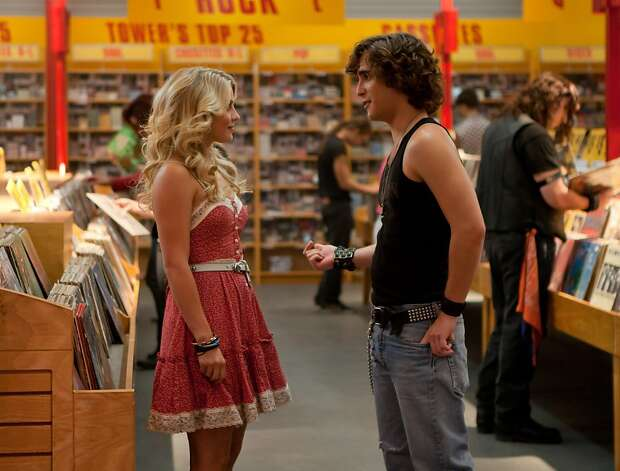 "JULIANNE HOUGH as Sherrie Christian and DIEGO BONETA as Drew Boley in New Line Cinema's rock musical ""ROCK OF AGES,"" a Warner Bros. Pictures release.  Photo by David James ROA-010712c (L-r) JULIANNE HOUGH as Sherrie Christian and DIEGO BONETA as Drew Boley in New Line Cinema's rock musical ""ROCK OF AGES,"" a Warner Bros. Pictures release. Photo: New Line Cinema"