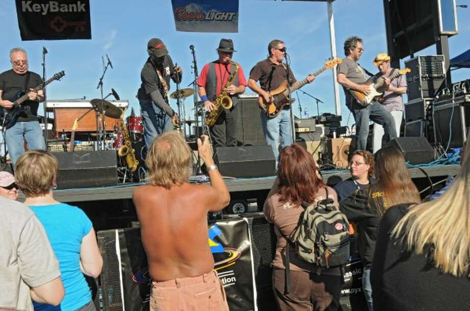 The Emerald City Band opens up for Dave Mason of Traffic as the concert kicks off the 2012 season of Alive at Five at the Corning Preserve on June 7, 2012 in Albany, N.Y.  (Lori Van Buren / Times Union) (Albany Times Union)