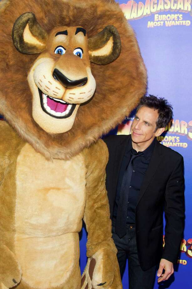 "Ben Stiller attends the premiere of ""Madagascar 3: Europe's Most Wanted"" on Thursday, June 7, 2012 in New York. Photo: Charles Sykes, CHARLES SYKES/INVISION/AP / 2012 Invision"