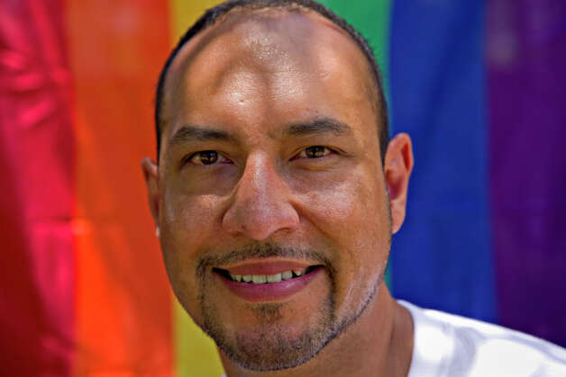 Mario Ricondo (CQ) is on the PrideFest San Antonio planning committee. The event was held in Hemisfair Park, Saturday, June 14, 2008. NICOLE FRUGE/nfruge@express-news.net Photo: NICOLE FRUGE, SAN ANTONIO EXPRESS-NEWS / nfruge@express-news.net