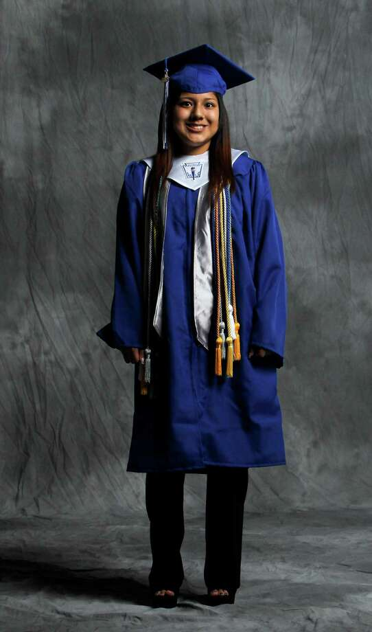 Valedictorian Norma Arroyo, 17, of Chavez High School, photographed in the Houston Chronicle Studio, Tuesday, May 29, 2012, in Houston. Annual story on Latino valedictorians who made it even under very adverse circumstances. ( Karen Warren / Houston Chronicle ) Photo: Karen Warren / © 2012  Houston Chronicle