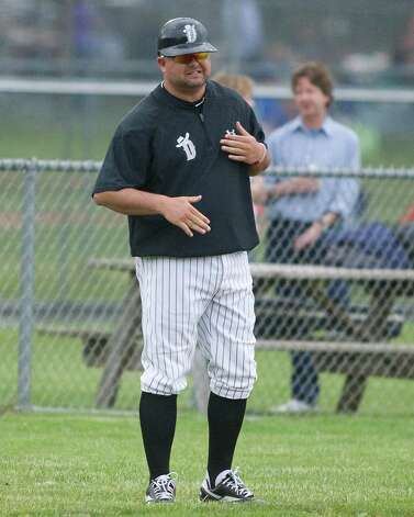 Danbury manager Jamie Shevchik. Photo: Barry Horn / The News-Times Freelance