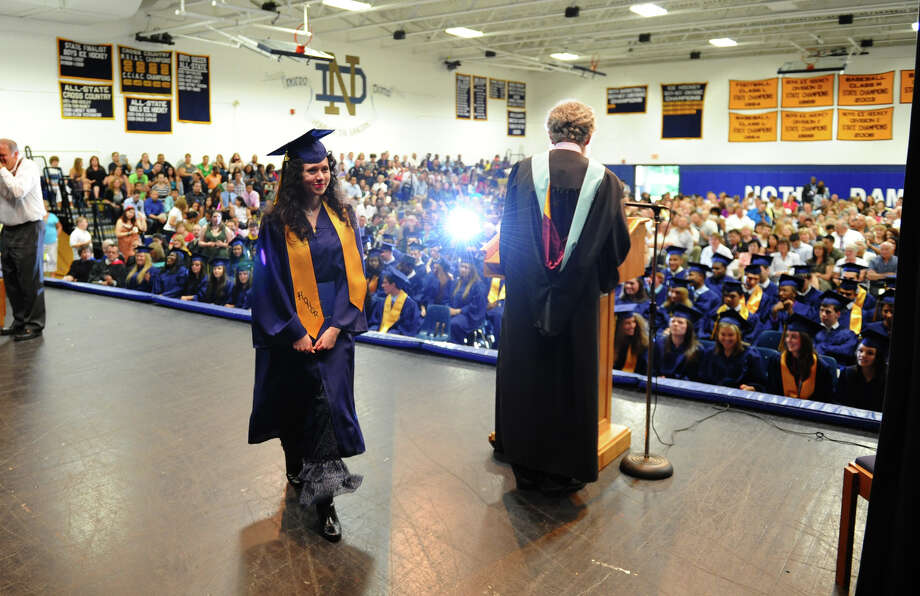 Highlights from Notre Dame of Fairfield's Class of 2012 Commencement Exercises in Fairfield, Conn. on Friday June 8, 2012. Photo: Christian Abraham / Connecticut Post