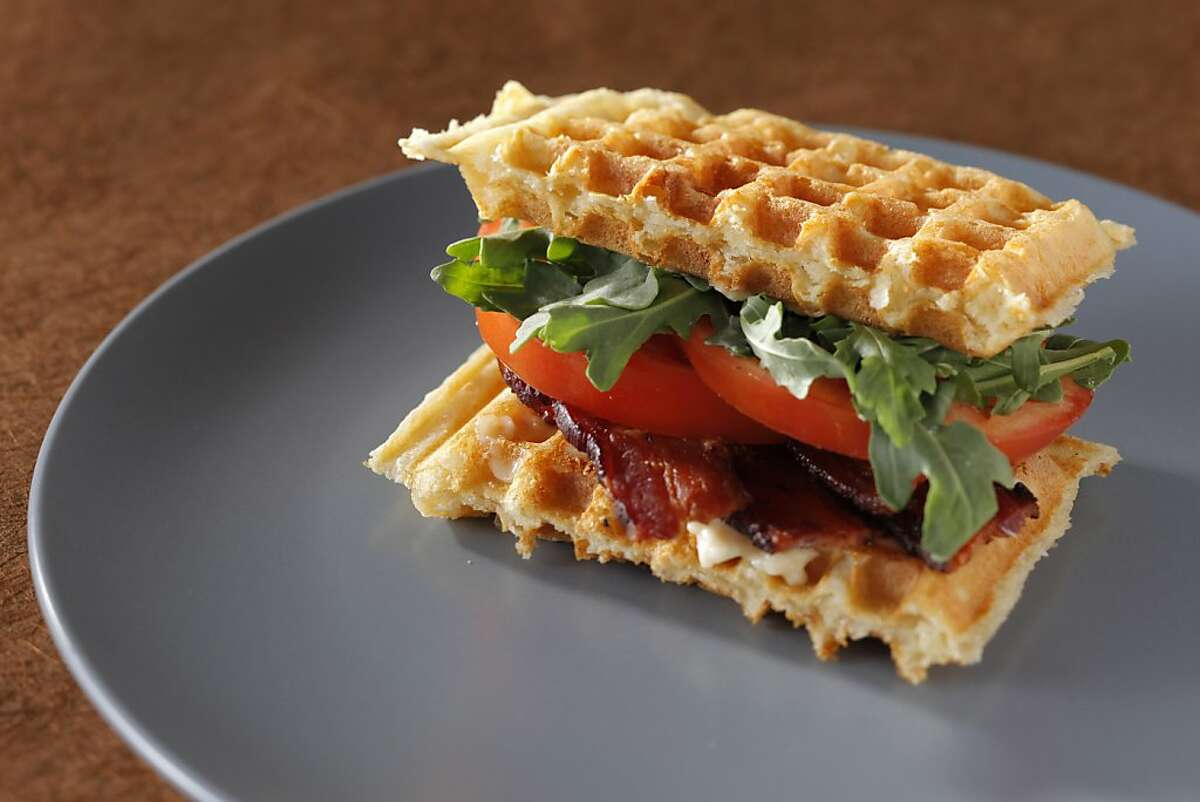 Sourdough Waffle BLTS as seen in San Francisco, California on Wednesday, May 30, 2012. Food styled by Stephanie Kirkland.