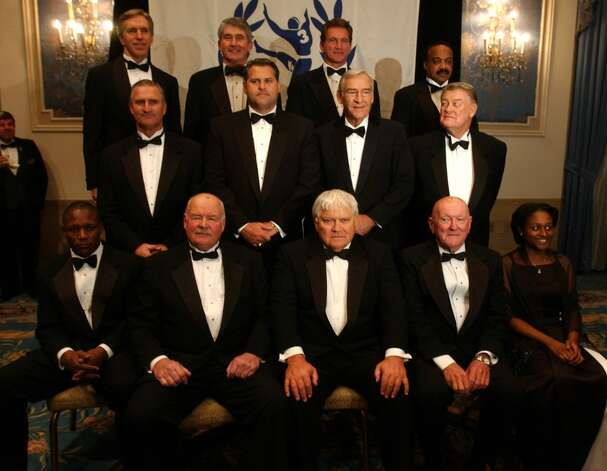 Jerry LeVias, top right, is one of several players inducted into the College Football Hall of Fame on Dec. 9, 2003.