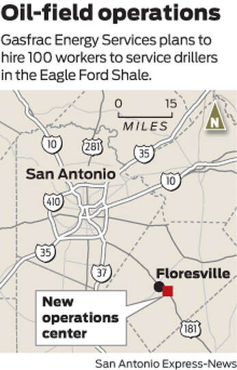 Gasfrac Energy Services plans to hire 100 workers to service drillers in the Eagle Ford Shale.