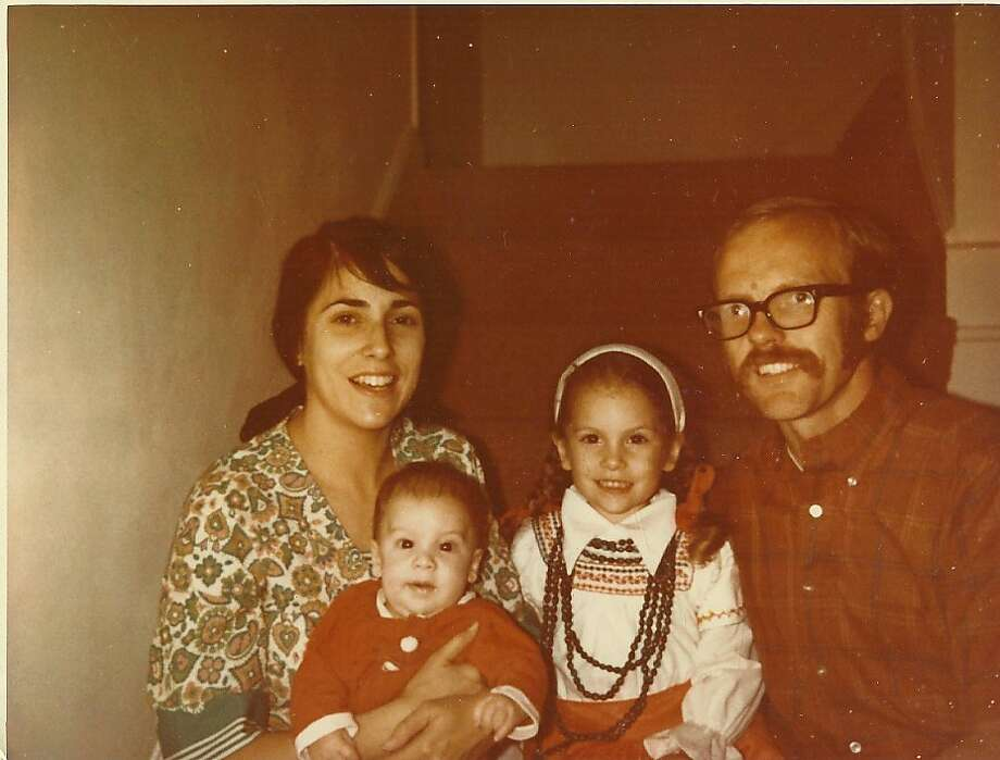 Phil Hartlaub, left, with his wife Jeanne and children Peter and Toni in an Oct. 31, 1970 photo. For the Hipsterdad17 or hipsterdads17 style section layout. Photo: Courtesy Phil Hartlaub