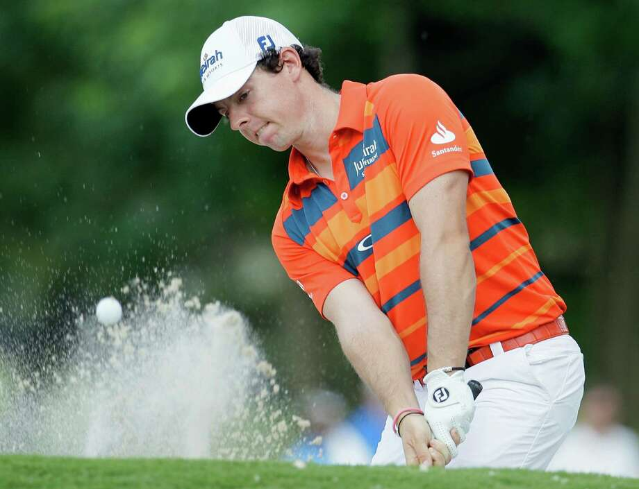 A little sand on the 17th hole couldn't keep Rory McIlroy from taking the lead Friday in the second round of the St. Jude Classic in Memphis, Tenn. Photo: Mark Humphrey / AP
