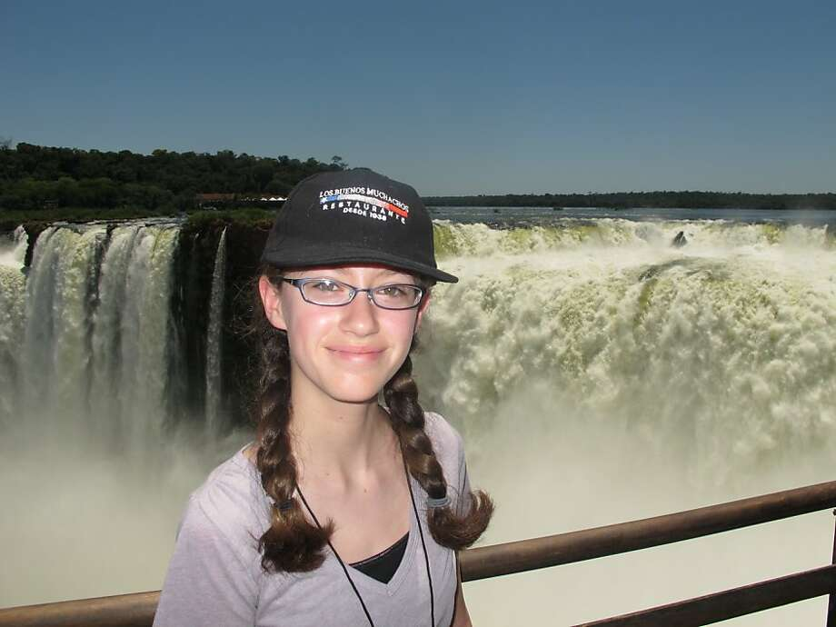 Rian Montagh of Albany at Iguassu Falls, Brazil Photo: Courtesy Rian Montagh