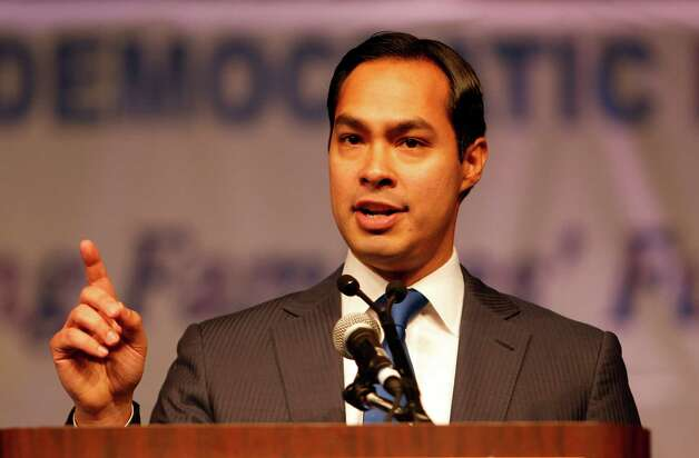 San Antonio Mayor Julian Castro during the the 2012 Texas Democratic Party State Convention at the George R. Brown Convention Center Friday, June 8, 2012, in Houston. Photo: James Nielsen, Chronicle / © Houston Chronicle 2012