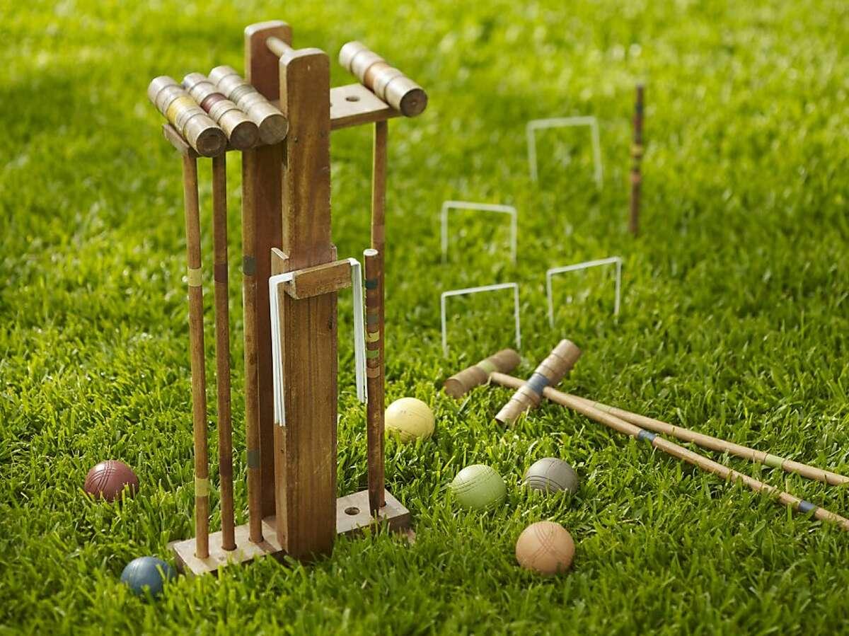 Less: $169 Croquet Set from Pottery Barn (potterybarn.com)