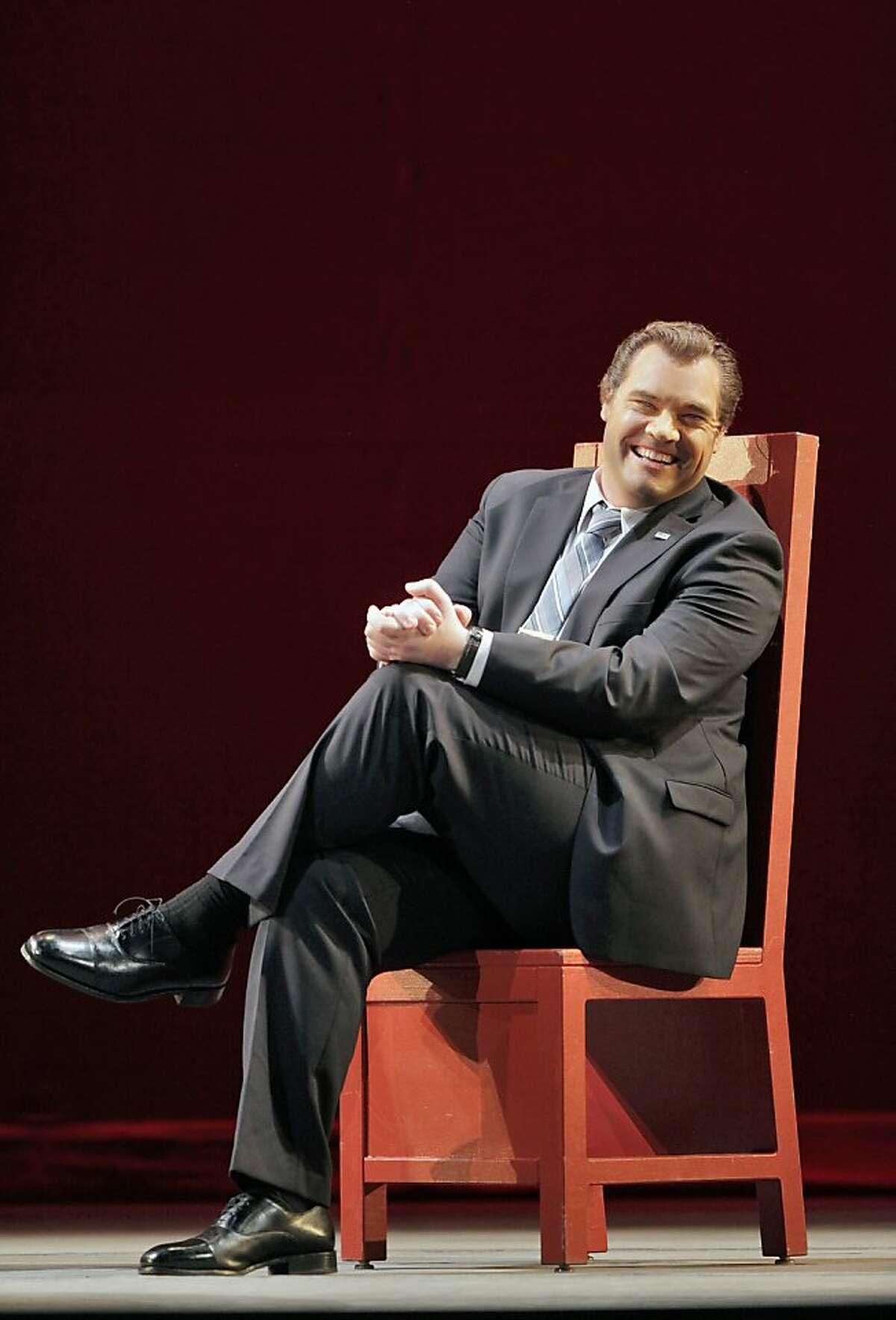 "Brian Mulligan (Richard Nixon) in, ""Nixon in China,"" by the San Francisco Opera."