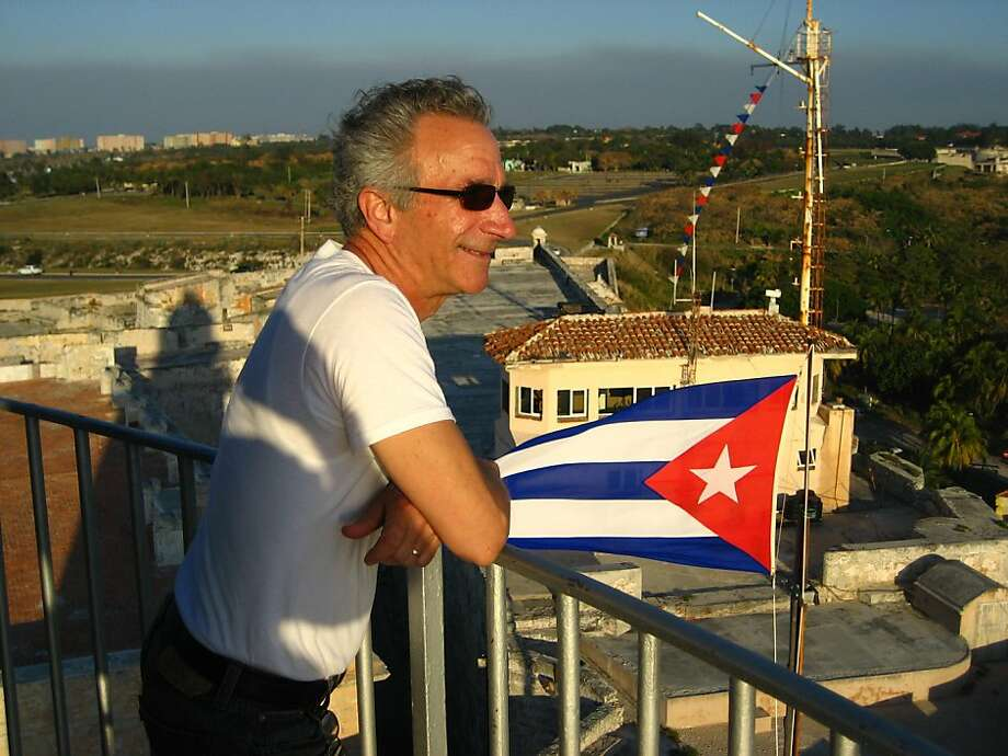 Michael Caldarola of St. Helena at the lighthouse at Castello de los Tres Reyes del Morro, Havana. Photo: Courtesy Michael Caldarola
