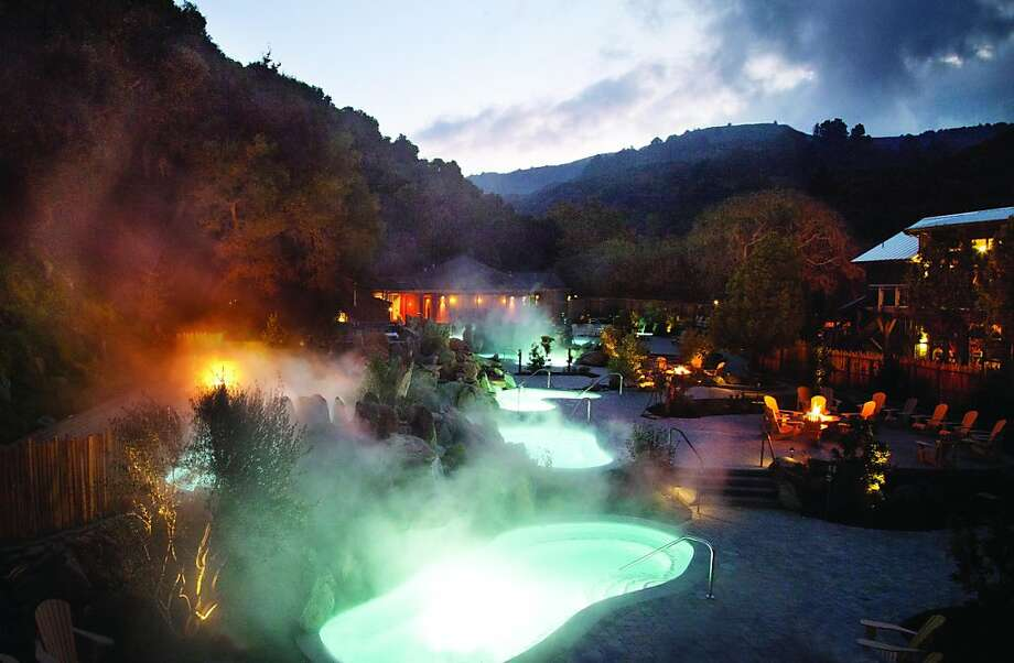 "The Refuge, a hydrothermal ""relaxation spa"" at the Carmel Valley Athletic Club, was created to help visitors reset their thermostats in a lush outdoor setting. Photo: Jeanne Cooper"