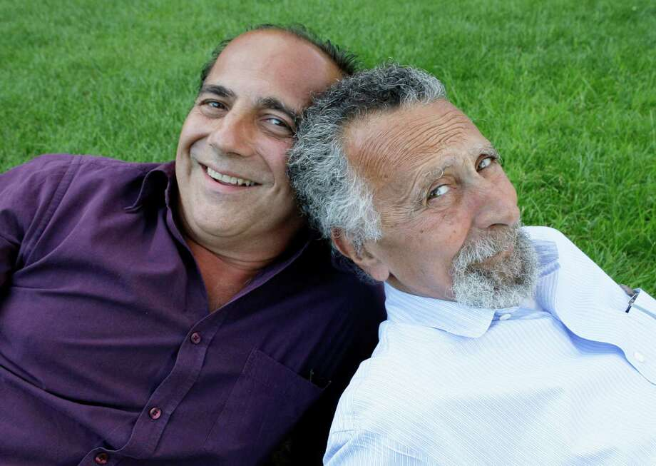 """FILE - This June 19, 2008 file photo shows brothers Tom, left, and Ray Magliozzi, hosts of National Public Radio's """"Car Talk"""" show, in Cambridge, Mass. The Magliozzi  brothers said Friday, June 8, 2012, they will stop making new episodes of their comic auto advice show at the end of September, 25 years after """"Car Talk"""" began in Boston. The show airs every Saturday morning and is National Public Radio's most popular program. Older brother Tom is 74 years old and the brothers say it's time to stop and smell the cappuccino. """"Car Talk"""" isn't disappearing, however. NPR says repurposed episodes will continue to air every week with material culled from the show's archives. (AP Photo/Charles Krupa, file) Photo: Charles Krupa / AP2008"""
