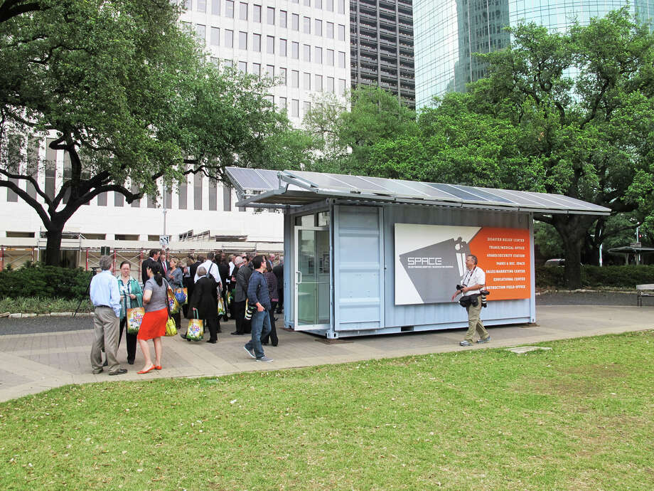 Next big hurricane, the SPACE stations designed by Metalab will serve as off-the-grid mobile disaster centers. Now you know where to charge your cellphone.