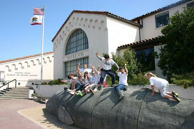 Kids on the whale outside the Pacific Grove Museum of Natural History in Pacific Grove, CA. Photo: Jeanne Cooper, Lori Mannel
