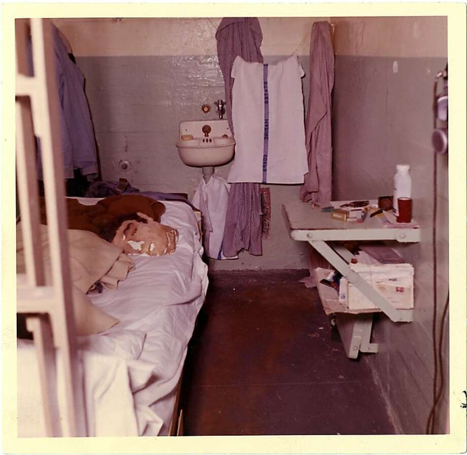 This 1962 photo from the U.S. Penitentiary Alcatraz shows John Anglin's cell and shows the entire cell with the method of concealing the escape method and the dummy head used. Photo: Handout Photo, U. S. Penitentiary Alcatraz
