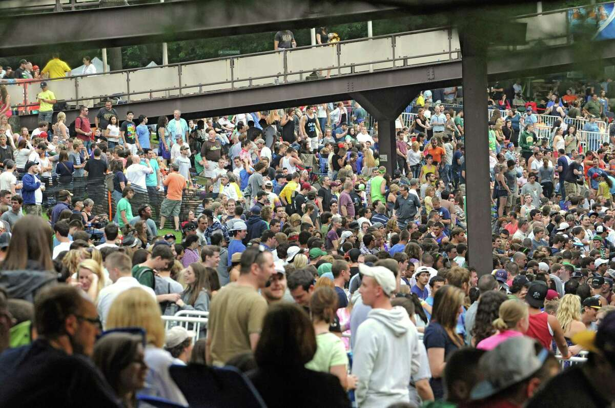 A sold out crowd attends a Dave Matthews Band concert at Saratoga Performing Arts Center June 8, 2012 in Saratoga Springs, N.Y. (Lori Van Buren / Times Union)