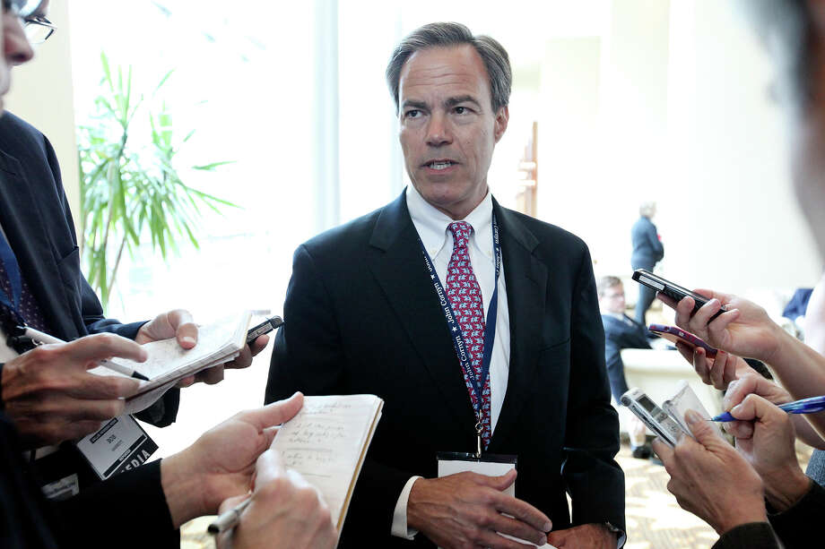 Texas House Speaker Joe Straus answers questions from the media during the Texas GOP Convention last month. Photo: Edward A. Ornelas, San Antonio Express-News / © 2012 San Antonio Express-News