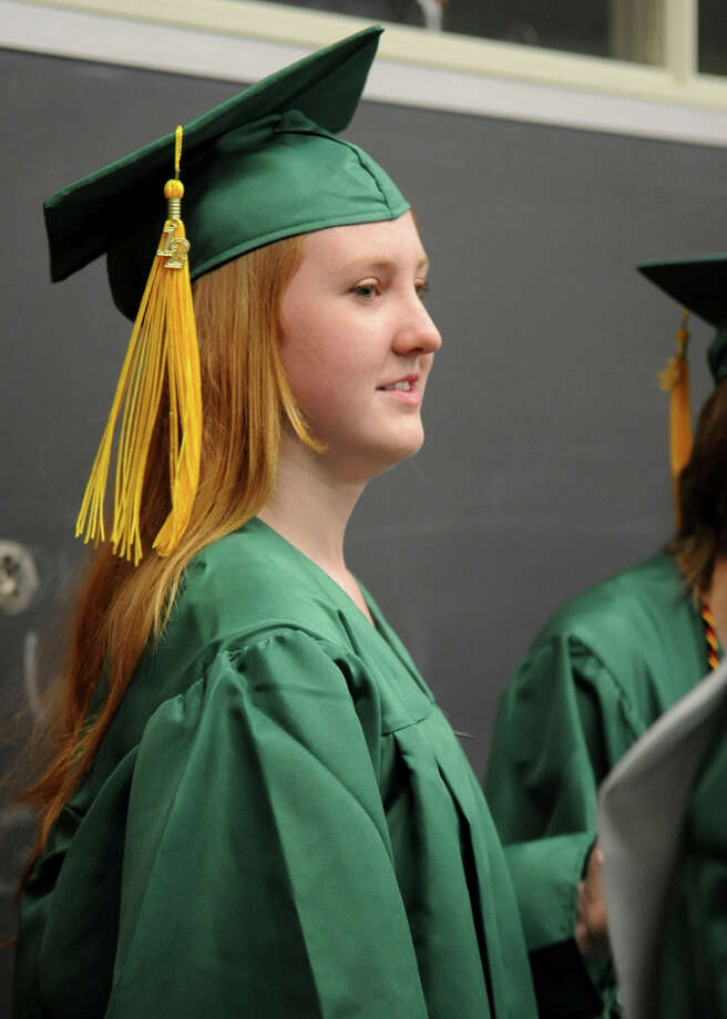 Saturday's graduation ceremony at Trinity Catholic High School in Stamford on June 9, 2012. Photo: Lindsay Niegelberg / Stamford Advocate