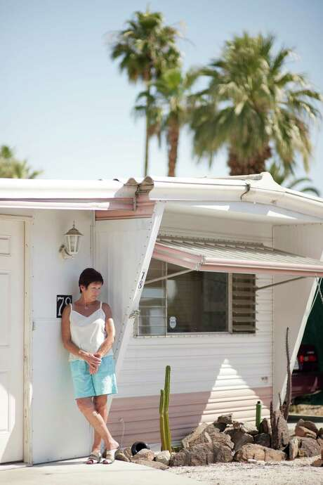 Clare Keany, 62, who retired early after being unable to find work, lives in a mobile home in California. Photo: MICHAL CZERWONKA / NYTNS