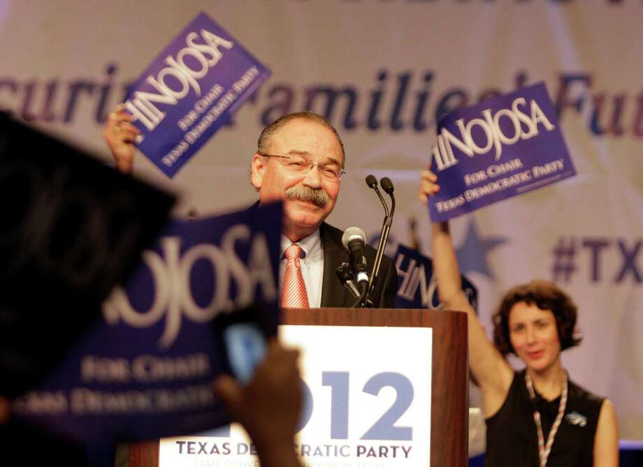Gilberto Hinojosa is named the first Hispanic chairman of the state Democratic Party at the Texas Democratic Convention. Photo: Melissa Phillip / © 2012 Houston Chronicle