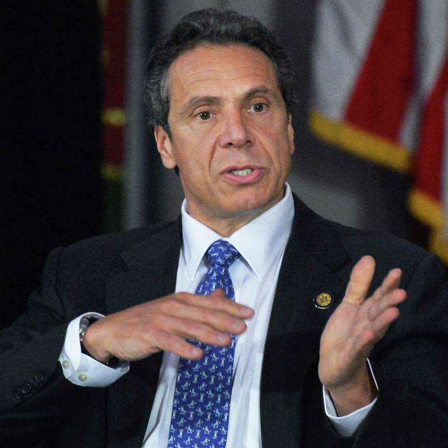 Gov. Andrew Cuomo speaking at a recent cabinet meeting. His government efficiency plan is taking longer than expected to complete. (John Carl D'Annibale / Times Union) Photo: John Carl D'Annibale / 00017616A