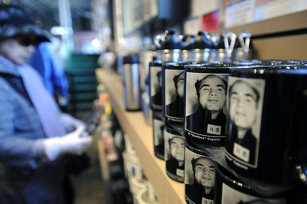 Al Capone mugs are seen for sale on the gift shop on Alcatraz Island June 8th, 2012. Photo: Michael Short, Special To The Chronicle