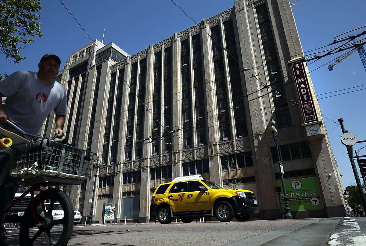 The SF Furniture Mart is under renovations to become Twitter's offices in San Francisco, Calif., Thursday, May 10, 2012. One of Mayor Lee's first policy decisions was pushing a tax break for the downtrodden Mid-Market area to keep Twitter Inc. from leaving the city.