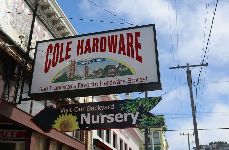 Cole Hardware in San Francisco's Cole Valley neighborhood. Photo: Jill Schneider, The Chronicle