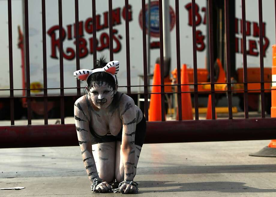 A member of the animal-rights group Anima Naturalis protests the use of wild animals in circuses at the Ringling Bros. circus in Monterrey, Mexico. Photo: Julio Cesar Aguilar, AFP/Getty Images