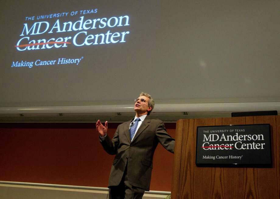Turning it around?MD Anderson's revenue exceeded its expenses for the fourth straight  month in April, a turnabout from the previous 16 months when it lost  $436 million. Officials are now hopeful they can finish the fiscal year  that ends Aug. 30 in the black. Photo: Brett Coomer, Houston Chronicle / © 2011 Houston Chronicle