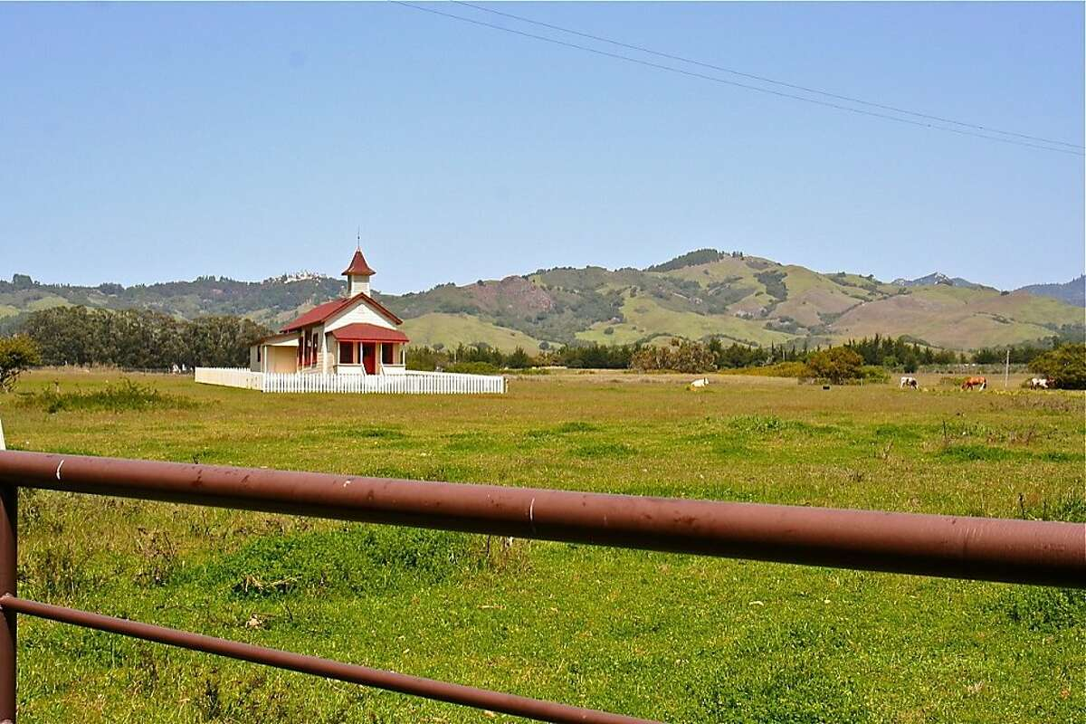 The old schoolhouse is one of the last remaining relics of San Simeon village.