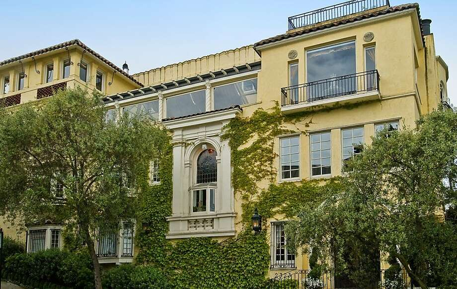 Famed San Francisco architect Willis Polk designed this Hyde Street mansion for the widow of author Robert Louis Stevenson. The home overlooks the bay, Alcatraz and appropriately, Treasure Island. Photo: John Hayes