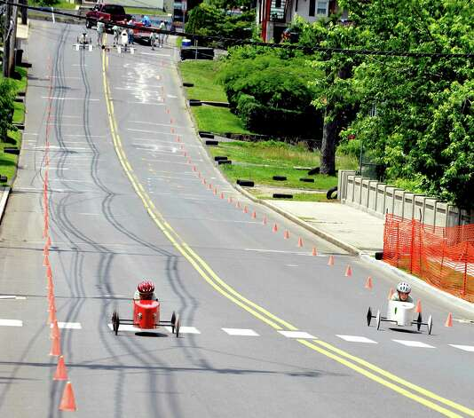 The Danbury Soap Box Derby is held Sunday, June 10, 2012. Photo: Michael Duffy / The News-Times