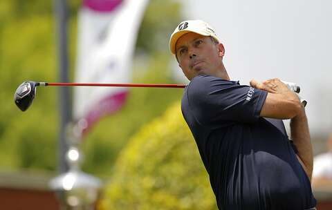 Matt Kuchar tees of on the first hole during the opening round of the Crowne Plaza