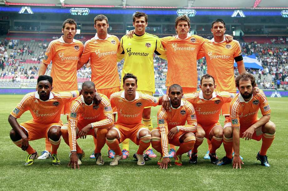 VANCOUVER, CANADA - JUNE 10:  The starting 11 for the Houston Dynamo against the Vancouver Whitecaps FC during their MLS game June 10, 2012 in Vancouver, British Columbia, Canada. Photo: Jeff Vinnick, Getty Images / 2012 Getty Images