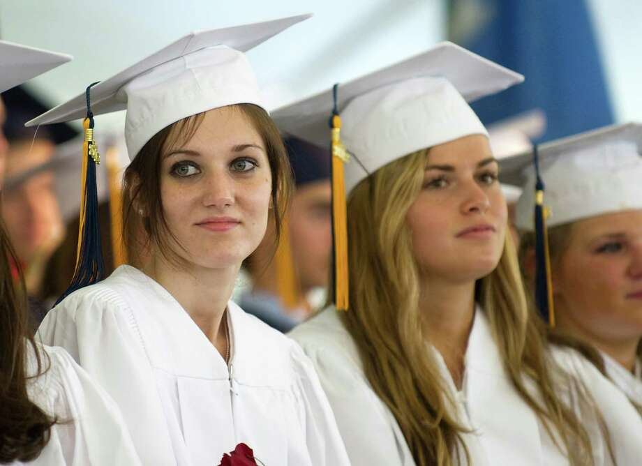King Class of 2012 commencement exercises on in Stamford, Conn., June 10, 2012. Photo: Keelin Daly / Stamford Advocate