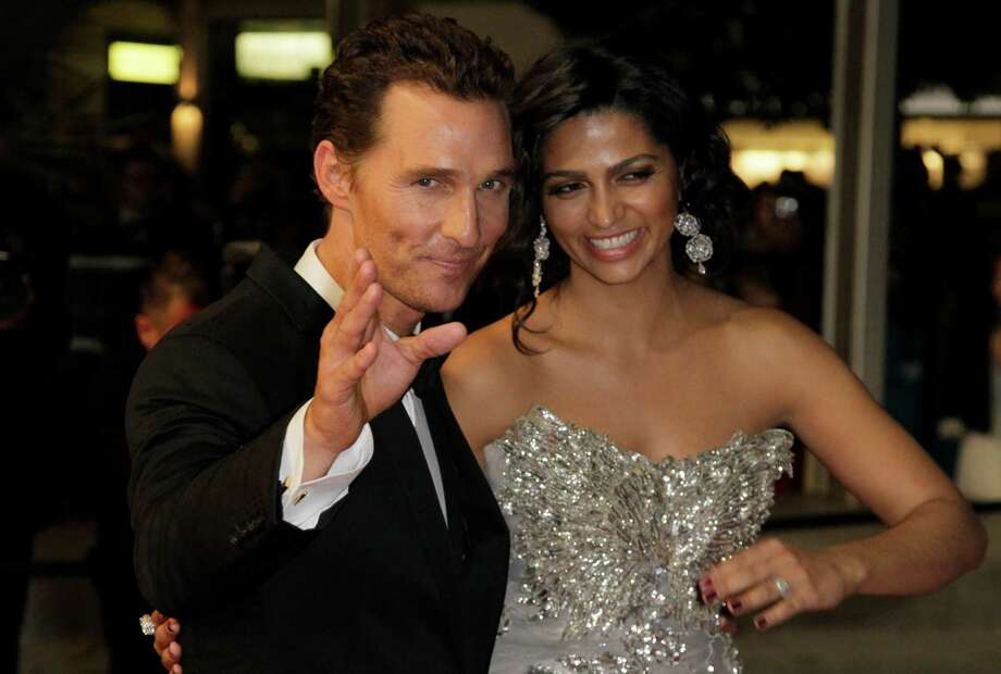 Matthew McConaughey and  Camilla Alves in Cannes, France, last month. Photo: Francois Mori / AP