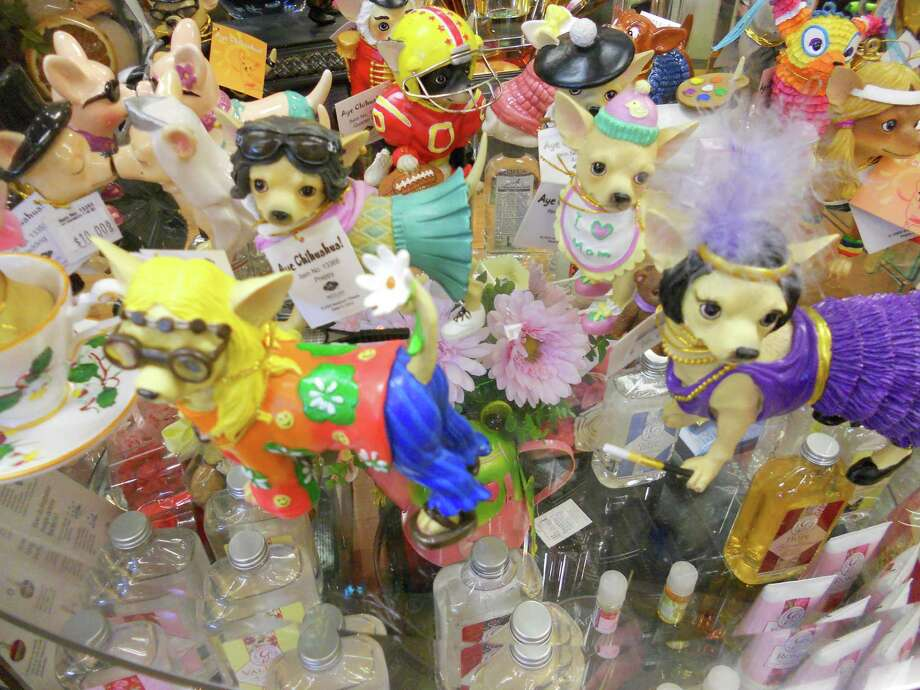 Alon Town Centre, 11503 NW Military Highway: Lizzy's Gifts carries these funny Aye Chihuahua figurines, $16 each. Photo: Photo By Jennifer Rodriguez/For The Express-News.