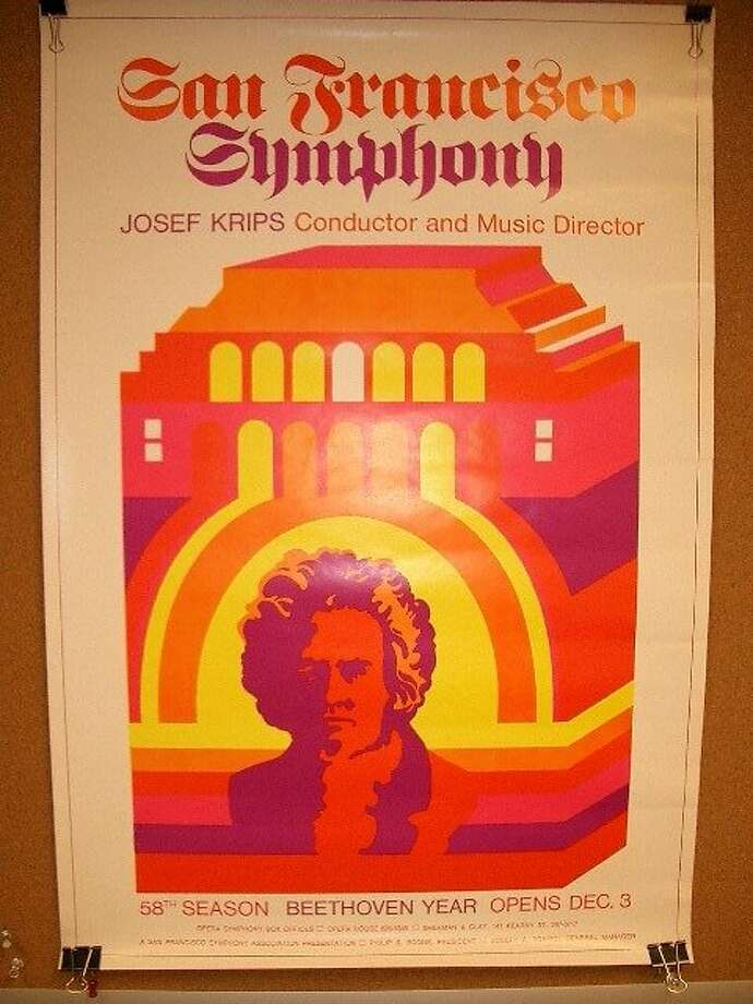 The San Francisco Symphony declared its 58th season the Year of Beethoven with this poster in 1969 Photo: San Francisco Symphony