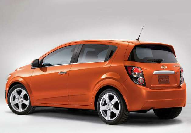 The 2012 Chevrolet Sonic hatchback will have a starting price of $15,560 (including freight) when it goes on sale this fall. The new subcompact has room for up to five people. Photo: General Motors Co. / Chevrolet