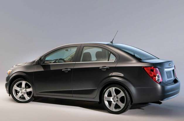The 2012 Chevrolet Sonic sedan has room for five passengers, and the trunk has 14 cubic feet of cargo space. Photo: General Motors Co. / Chevrolet