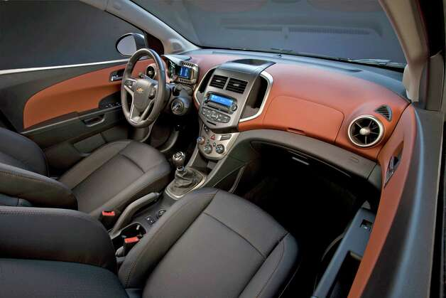 The 2012 Chevrolet Sonic sedan includes such standard amenities as power door locks, OnStar and air conditioning on all models. Photo: General Motors Co. / Chevrolet