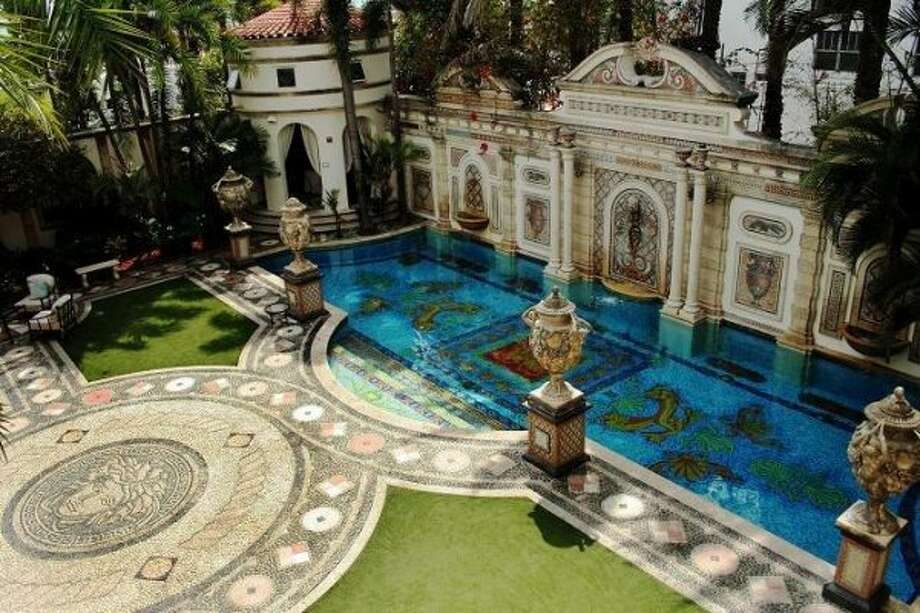 This undated photo made available by Casa Casuarina shows the pool of Casa Casuarina in Miami Beach, Fla. The South Beach mansion once owned by Italian designer Gianni Versace is back on the market for $125 million according to a listing posted on Friday. (AP Photo/Casa Casuarina) (AP)