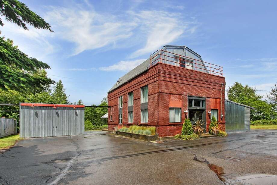 Exterior of the former West Seattle Pumphouse, at 424 S.W. Kenyon St. It's listed for $850,000. Photo: Courtesy Marlow Harris/Coldwell Banker Bain, Vista Estate Imaging