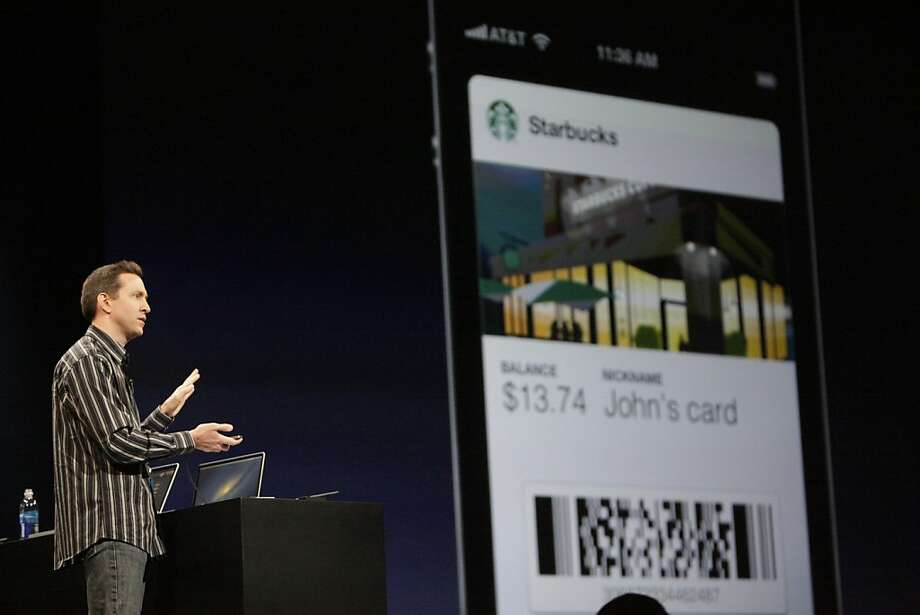 Apple Senior VP of iPhone Software Scott Forstall demonstrates an app called Passbook at during the keynote at the Worldwide Developers Conference 2012 at Moscone West on Monday, June 11, 2012 in San Francisco, Calif. Photo: Lea Suzuki, The Chronicle
